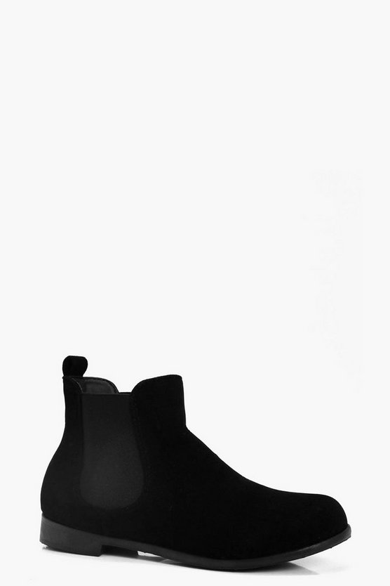 Womens Black Basic Chelsea Boots