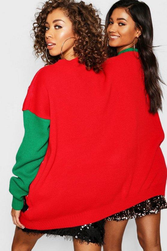 Mr & Mrs Elf Twin Christmas Jumper