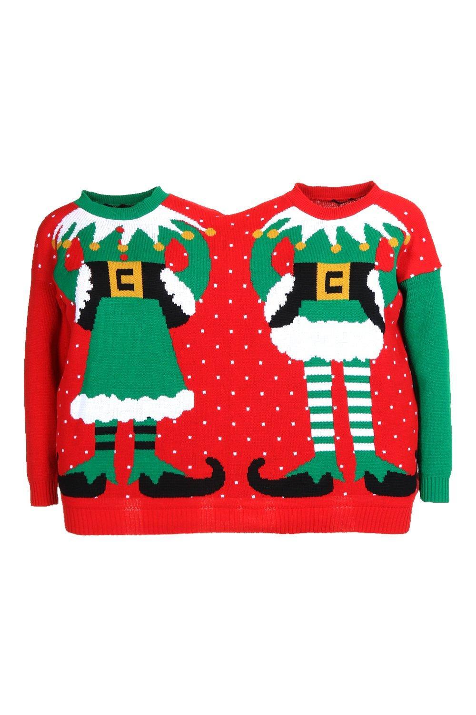 elfo Jersey mujer Multicolor y de hombre de navideño zzwW6qEP