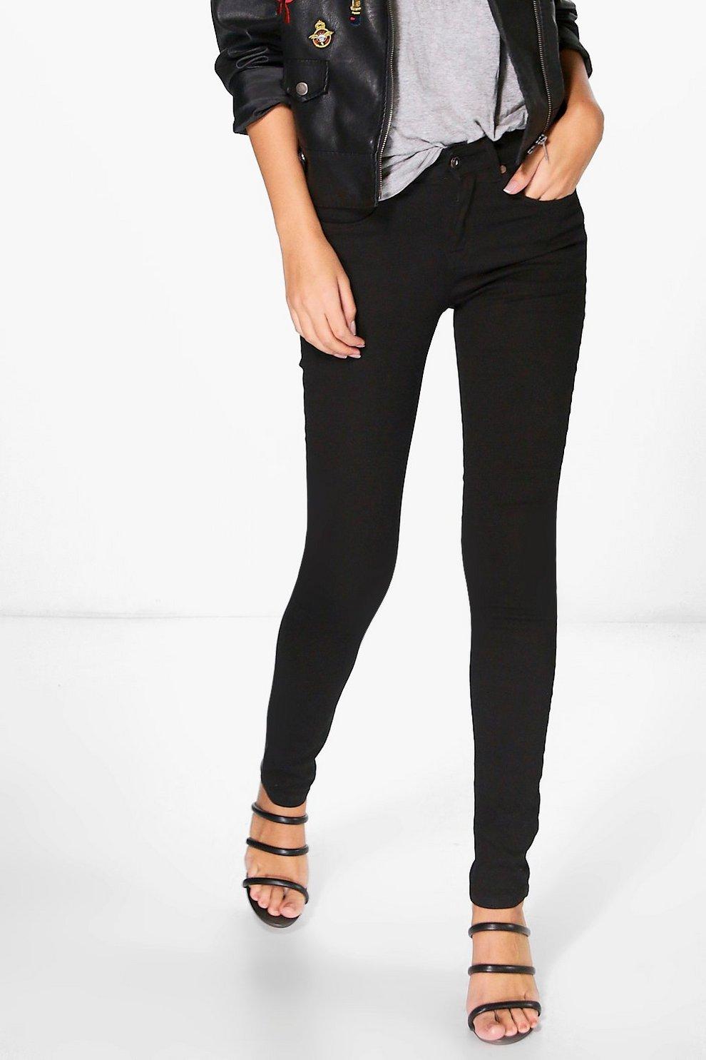 aa622172dd6a Jess Mid Rise Skinny Jeans   Boohoo