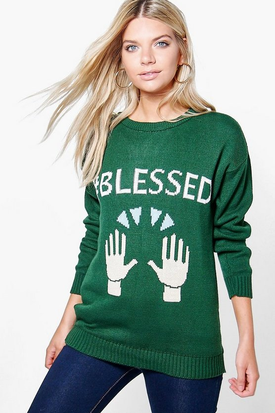 #BLESSED Christmas Jumper