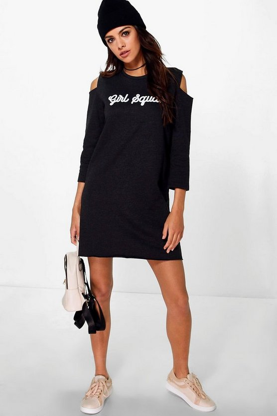 Tina Girl Squad Cold Shoulder Sweat Dress