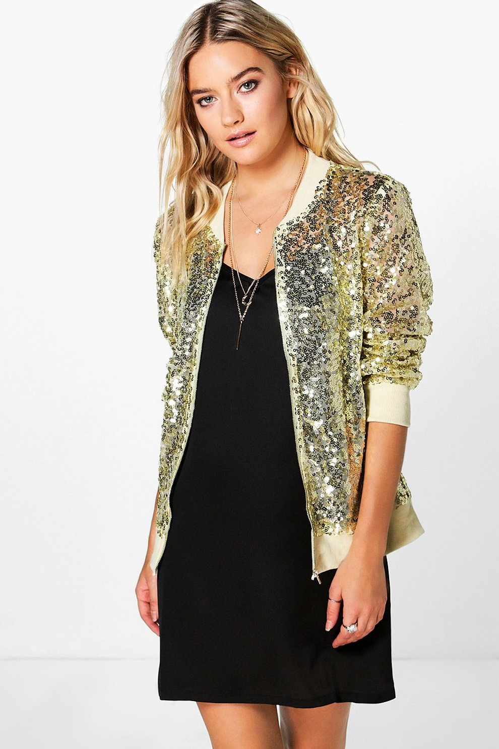 38301513a3 Ava Sequin Mesh Bomber Jacket