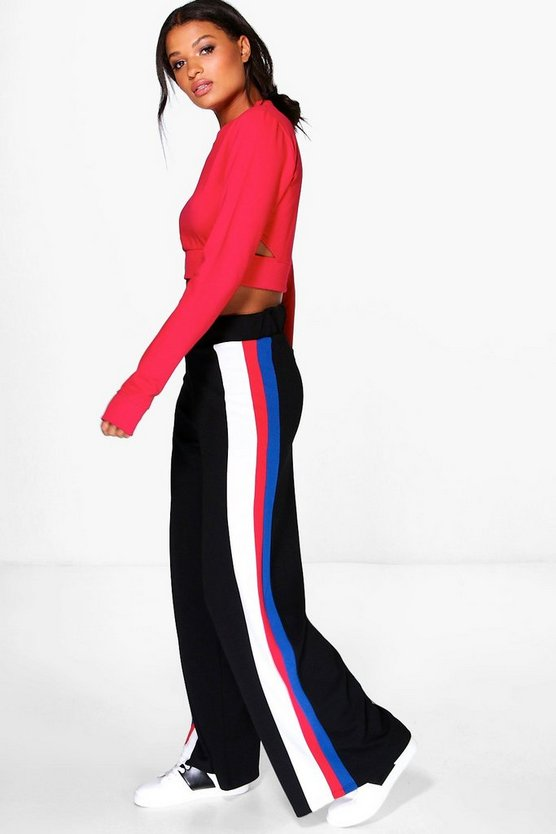 Side Stripe Drawcord Front Pant