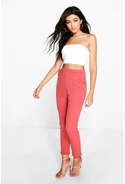 Womens Antique rose Basic Crepe Super Stretch Skinny Trousers