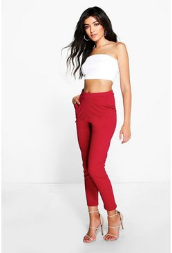 Berry Basic Crepe Super Stretch Skinny Trousers