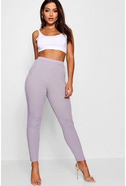 Womens Lilac haze Basic Crepe Super Stretch Skinny Pants