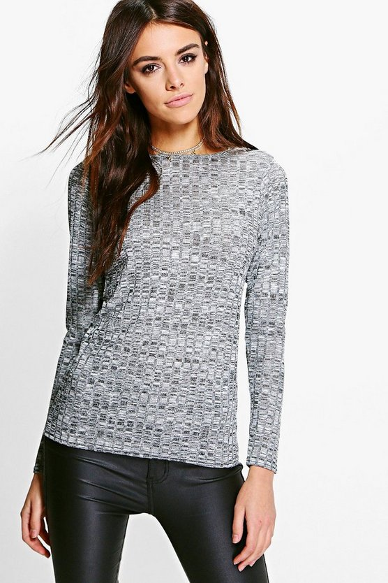 Marl Rib Knit Jumper