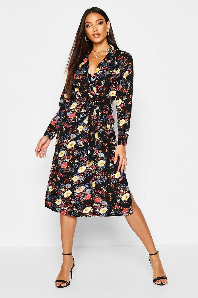 Robe à fleurs | Robes à fleurs bleues, Robes imprimées à