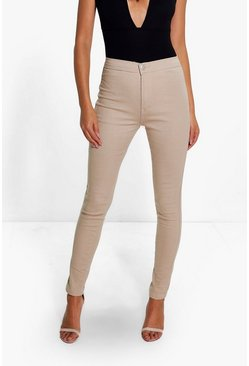 Womens Stone High Rise Tube Jeans