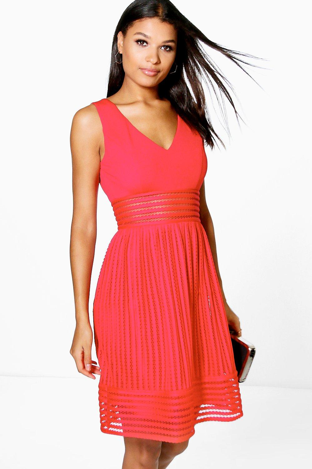 170a038290 Boutique Su Panelled Sleeveless Skater Dress. Hover to zoom