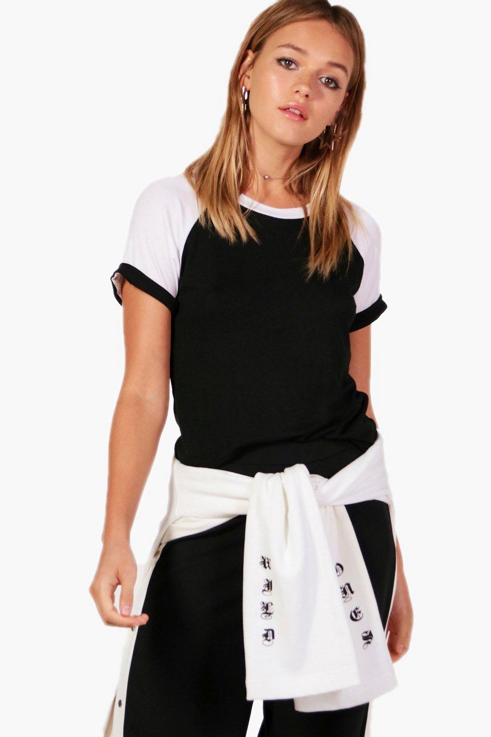 07a4c0186e Celina Contrast Raglan Sleeve T-Shirt