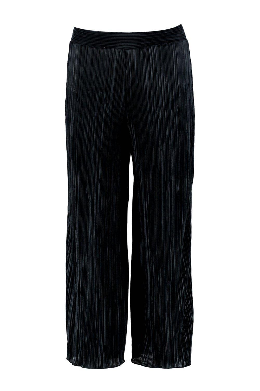 pantalón negro Falda y corta acampanada plisada f0gdgqa