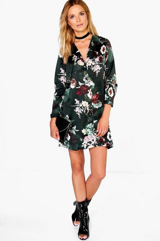 Hanalei Floral Pyjama Shirt Dress