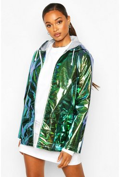 Womens Green Holographic Mac