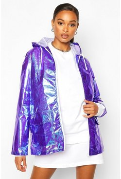 Womens Purple Holographic Mac