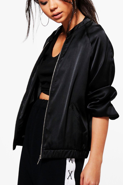 Boohoo Womens Maya Satin Bomber Jacket Ebay