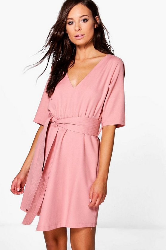 Caoimhe Plunge Wrap Shift Dress