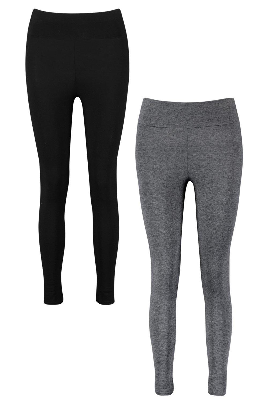 de alta leggings Multicolor con básicos 2 Pack cintura R1w6qOwd