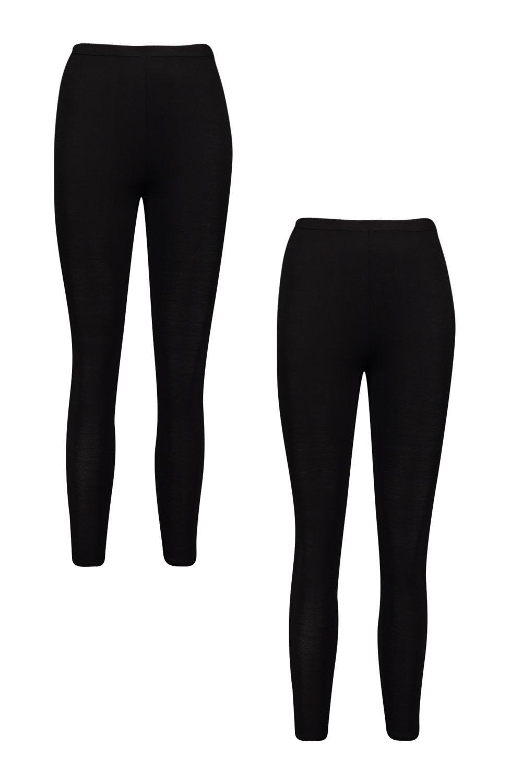 leggings 2 negro Pack básicos de alta cintura con E0SEwPAq5