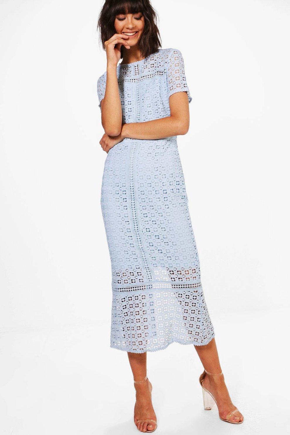 699ee8826f93 Boutique Crochet Midi Dress | Boohoo
