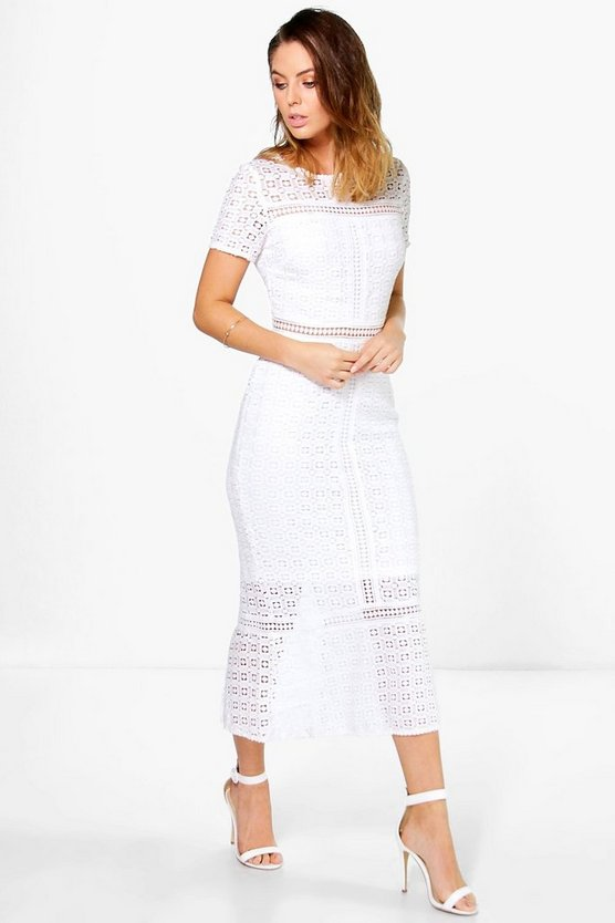 Boutique Crochet Midi Dress