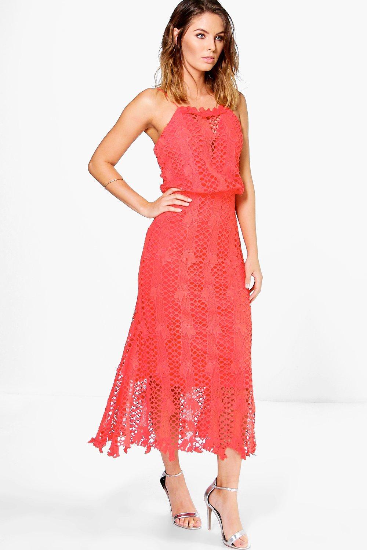 c8395d2c321a Boutique Hedvig Crochet Midi Dress | Boohoo
