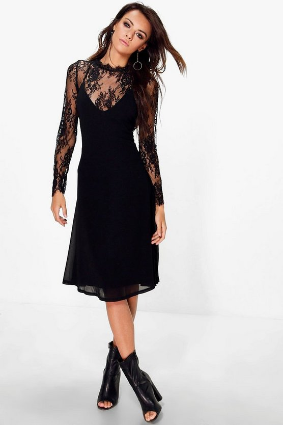 Sally Lace Detachable Top Slip Dress