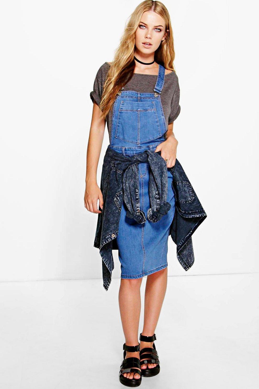 2373d78ef3 Alice Denim Dungaree Pinafore Dress