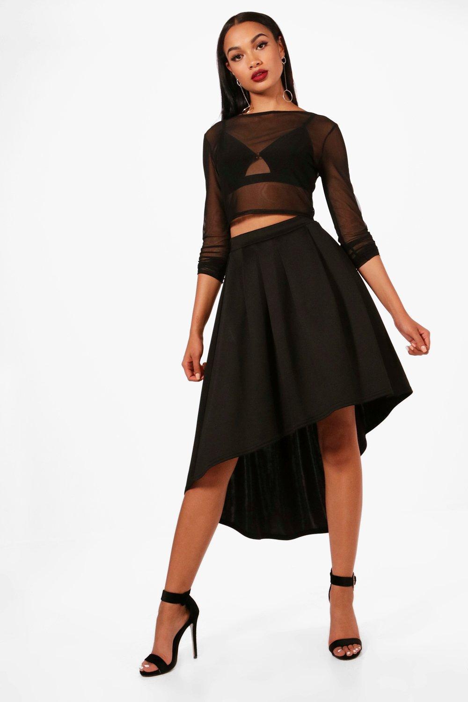 7a38fa30b47 Full Scuba Midi Skirt