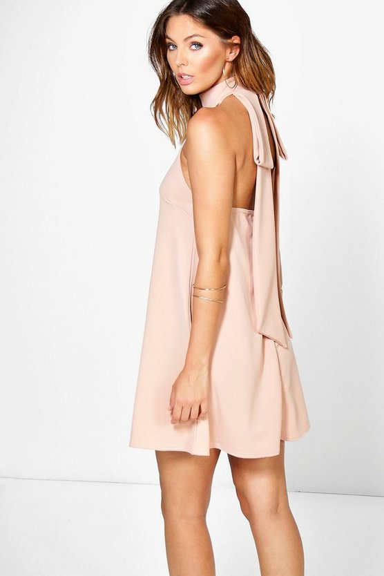 Sasha Open Back Detail Shift Dress