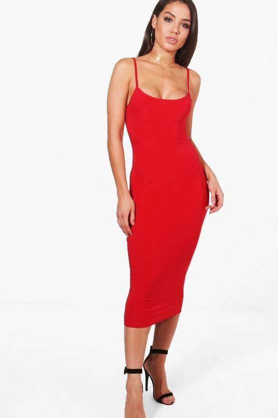 Slinky Strappy Bodycon Dress