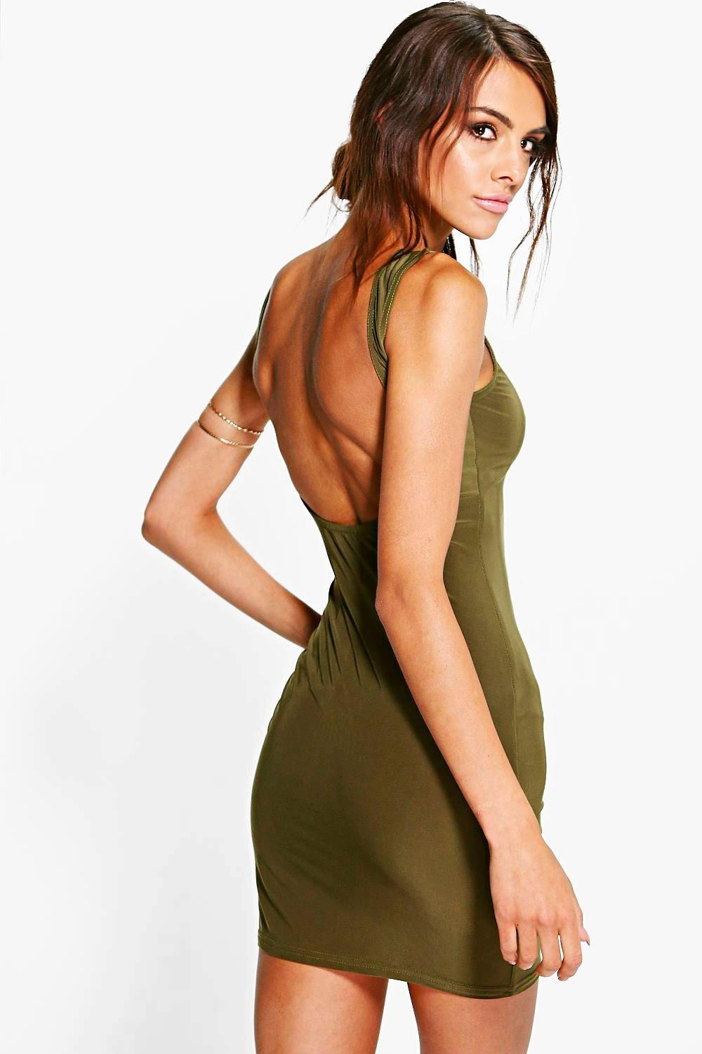 Bryony Slinky Open Back Bodycon Dress. Hover to zoom 8f8d78374