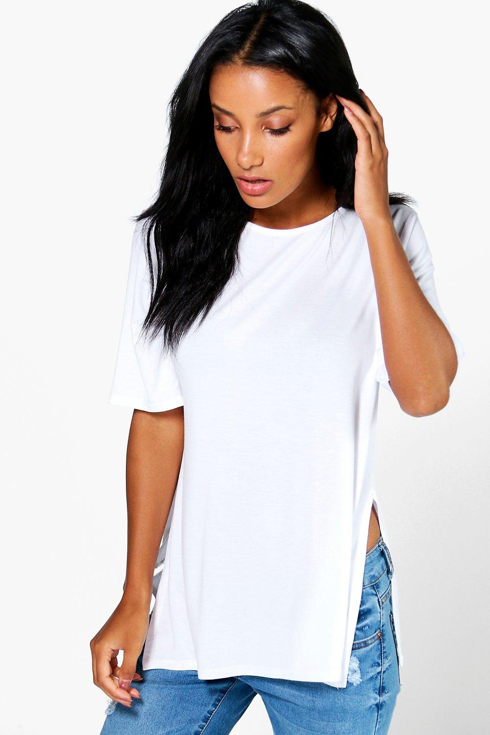 09ee4e18501 Womens White Michelle Oversized Half Sleeve T-Shirt. Hover to zoom. Close  video