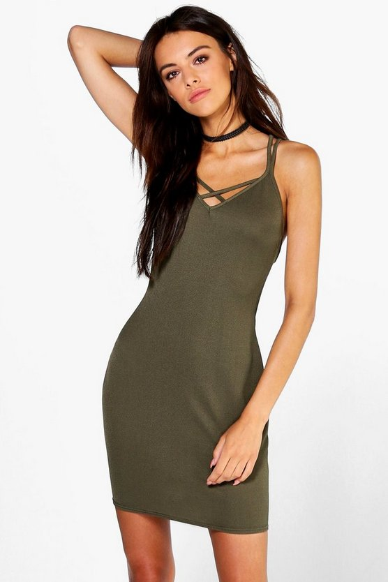 Emily Strappy Detail Bodycon Dress