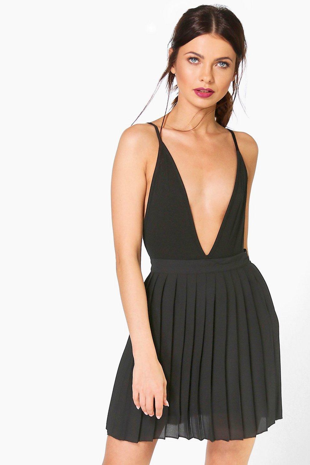 dc27f718b Cate Chiffon Pleated Mini Skirt | Boohoo