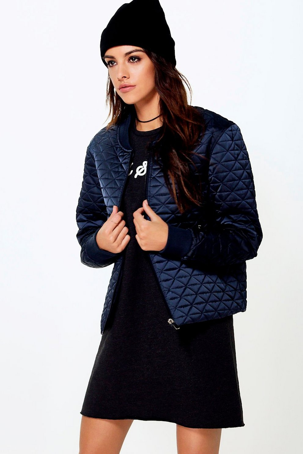 Boutique Sofia Quilted Bomber Jacket Boohoo
