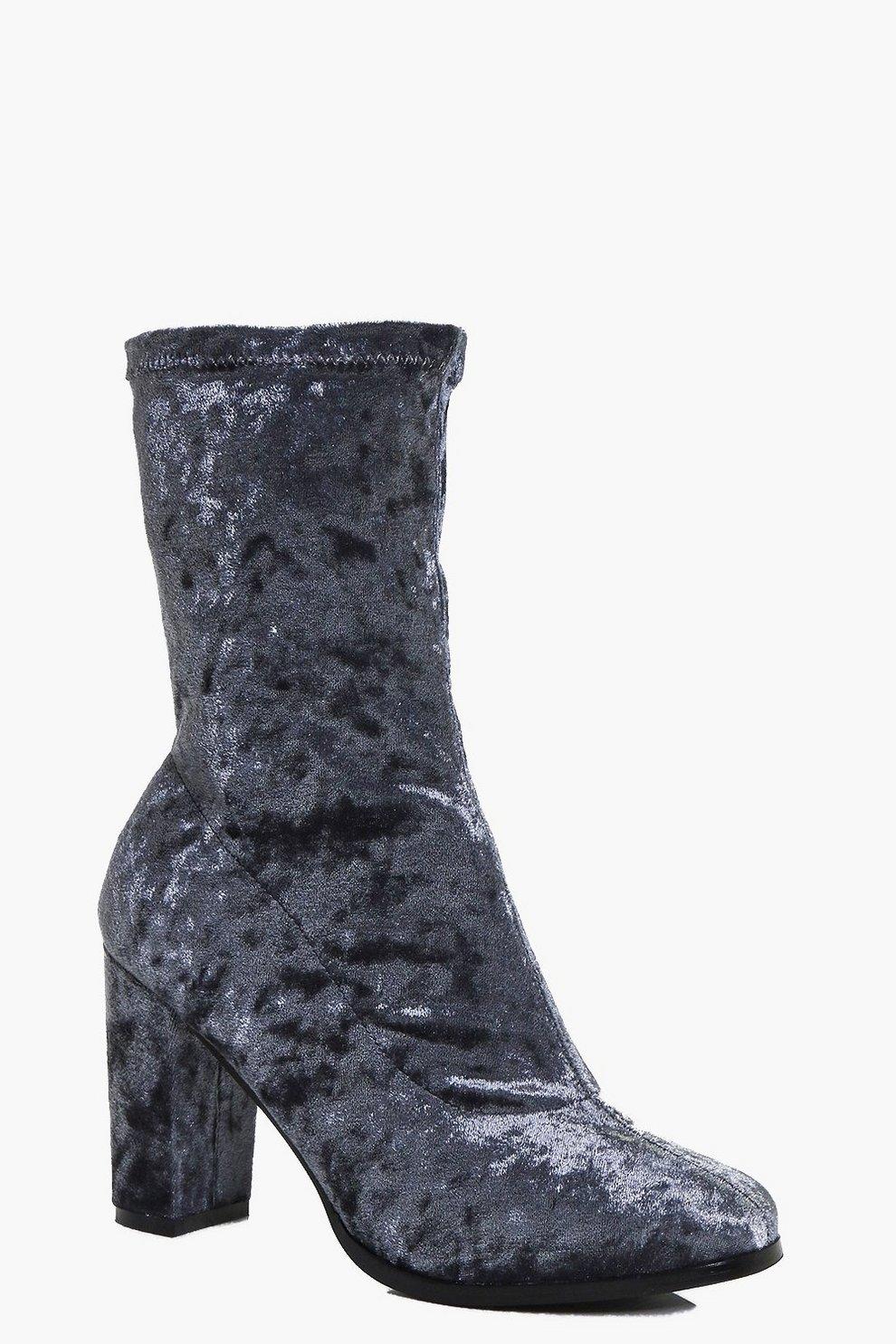1053df87f1 Betsy Velvet Sock Boot