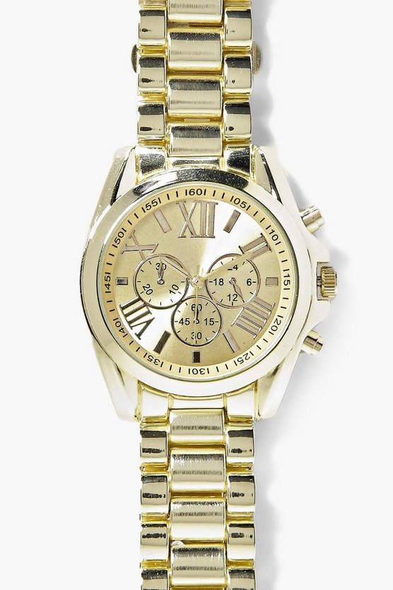 Womens Gold Annabel Chunky Bracelet Watch