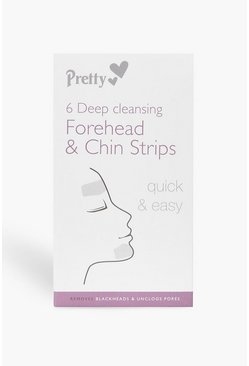 Womens Clear 6 Forehead And Chin Nose Pore Strips