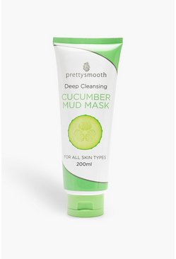 Womens Clear Pretty Smooth Cucumber Mud Face Mask