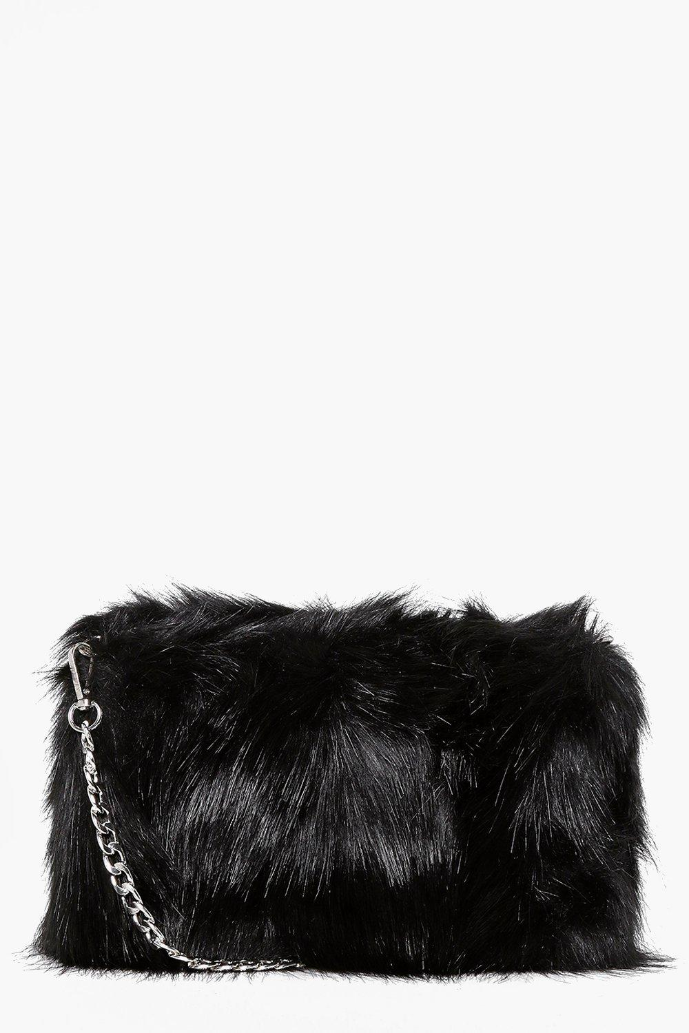 39694fee00d6 Faux Fur Cross Body Bag. Hover to zoom. Close video