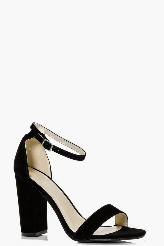 Womens Black Eleanor Peeptoe Block Heels