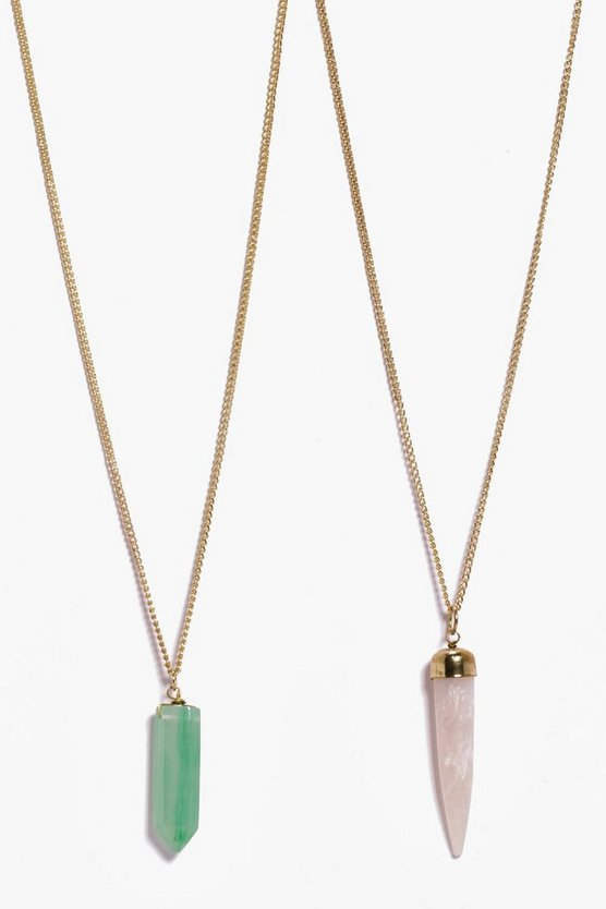 Rose Horn And Stone Necklace Pack