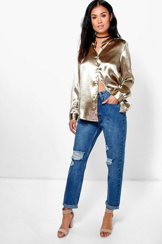 Laila Low Rise 5 Pocket Fray Knee Boyfriend Jeans