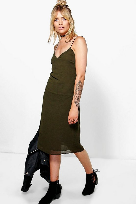 Hallie Cami Double Strap Midi Dress