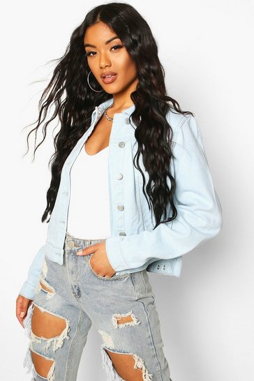 Womens Blue Cindy Light Wash Denim Jacket