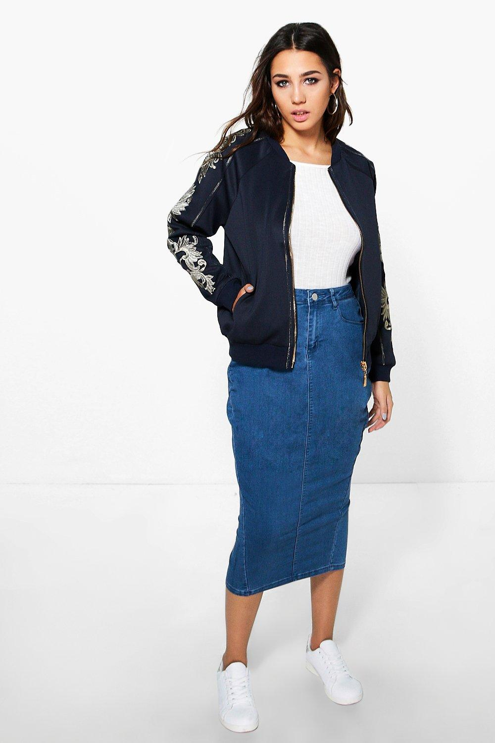 authorized site half off pre order Jupe longue en jean | Boohoo