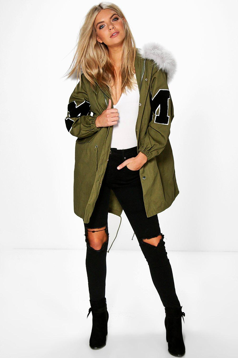 8817f4bfd574 ... Faux Fur Hood Parka. Hover to zoom