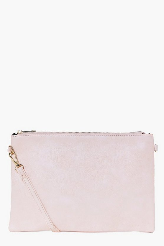 Womens Nude Millie Zip Top Cross Body Bag